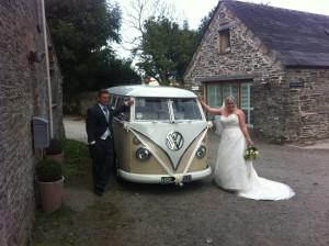 VW camper with Adrian & Emma