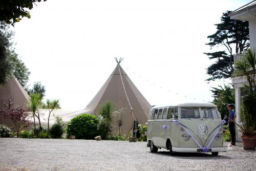 VW wedding campers Cornwall