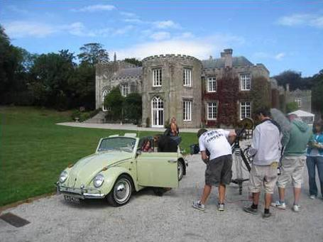 Filming Cornwall with Caroline Quentin and Adam the Volkswagen Beetle