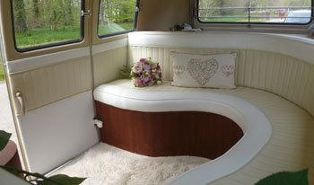 Cream VW Wedding Camper Interior Shot