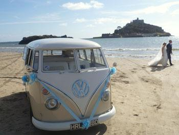 Volkswagen Camper for Wedding Hire