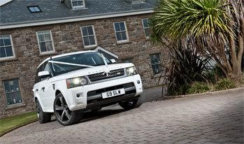 White Range Rover Wedding Car