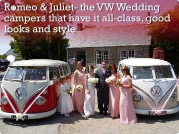 Romeo & Juliet- the VW Wedding campers that have it all-class, good looks and style