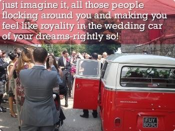 feel like royality in the wedding car of your dreams