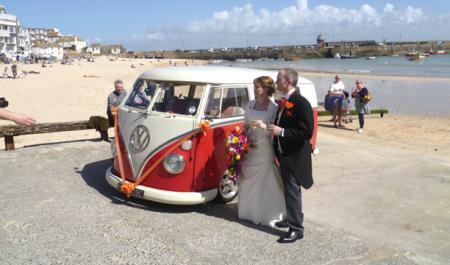 Hire a Volkswagen Camper Van for your Wedding