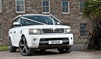 White Range Rover Car for Wedding Hire
